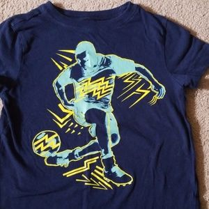 Boys crazy 8 blue tshirt size 4 with soccer decal